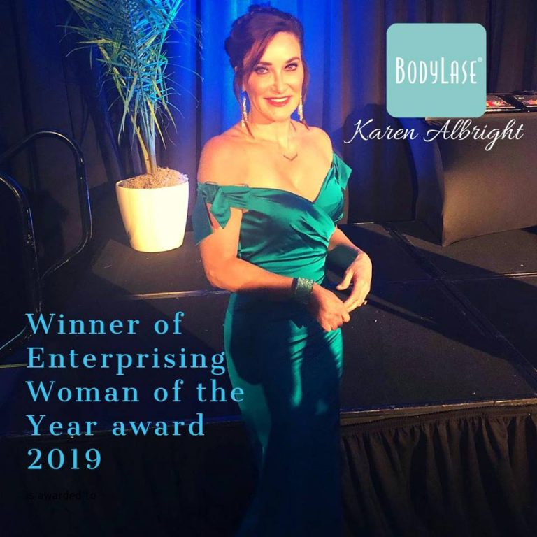 Karen Albright - winner of Enterprising Woman of the Year award 2019